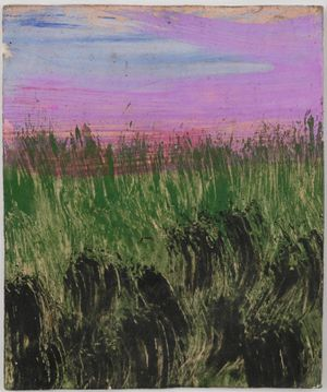 Untitled (Lavender sunset meadow) by Frank Walter contemporary artwork