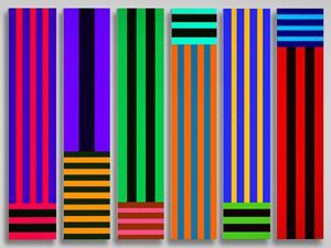 Stripes of Many Colours by Ian Howard contemporary artwork