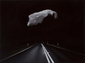 Near Earth aesteroid with highway (Ida) by Tony Lloyd contemporary artwork