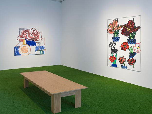 Exhibition view: Tom Wesselmann, Flowers, Gagosian, Park & 75, New York (14 June–16 August 2019). © The Estate of Tom Wesselmann/Licensed by ARS/VAGA, New York. Courtesy Gagosian. Photo: Rob McKeever.