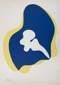 Sans titre (maquette pour affiche Moderna Museet) by Hans Arp contemporary artwork painting, works on paper, photography, print