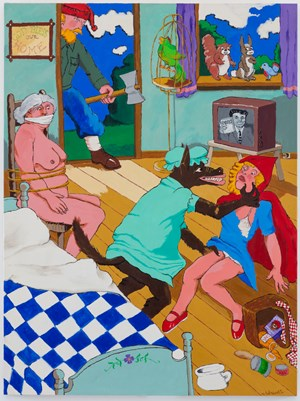 Fears: The Big Bad Wolf by Robert Colescott contemporary artwork