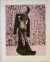 Women Words (Anon #21) by Betty Tompkins contemporary artwork painting