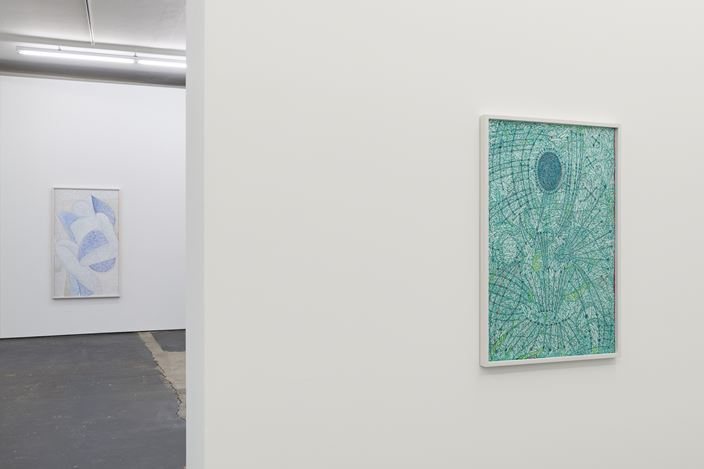 Exhibition view: Achraf Touloub, European Night, Galeria Plan B, Berlin (8 February–16 April 2019). Courtesy the artist and Plan B Cluj, Berlin. Photo: Trevor Good.