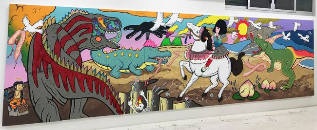 The Lady on a White Horse by Yuree Kensaku contemporary artwork