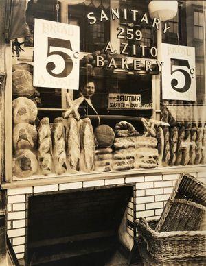 Bread Store, 259 Bleecker Street, Manhattan, February 3 by Berenice Abbott contemporary artwork photography