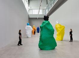 """Ugo Rondinone<br><em>nuns + monks</em><br><span class=""""oc-gallery"""">Esther Schipper</span>"""