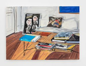 Interior with David Hockney book by Jean-Philippe Delhomme contemporary artwork