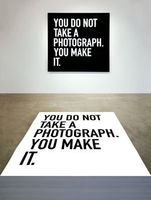 You Do Not Take a Photograph, You Make It. by Alfredo Jaar contemporary artwork