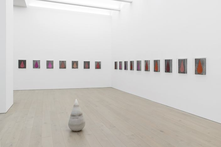 Exhibition view: Michael Sailstorfer, TEAR SHOW, Perrotin, New York (2 March–13 April 2019). © Courtesy of the artist & Perrotin. Photo: Guillaume Ziccarelli.