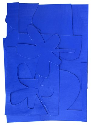 Blue Monochrome by Simon Degroot contemporary artwork