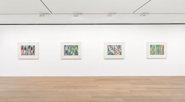 Contemporary art exhibition, Bridget Riley, Studies: 1984–1997 at David Zwirner, London