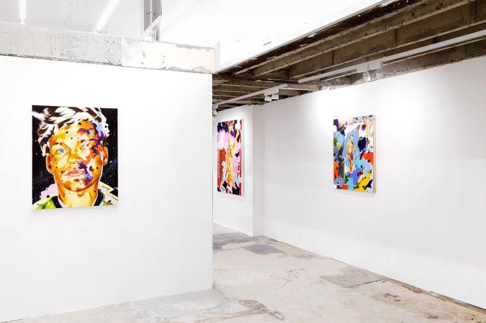 Exhibition view: Norbert Bisky, Unrest, Fabienne Levy, Lausanne (17 November 2020–13 March 2021). Courtesy Fabienne Levy. Photo: Neige Sanchez.