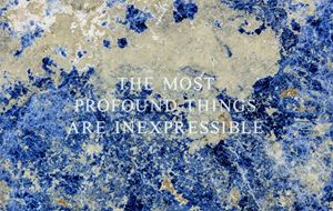 Selection from Truisms: The most profound... (detail) by Jenny Holzer contemporary artwork