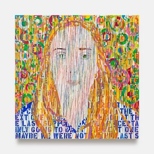 Portrait of Charlotte by Ghada Amer contemporary artwork