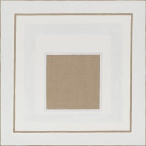 Exposed Square within White Rectangle by Danica Firulovic contemporary artwork