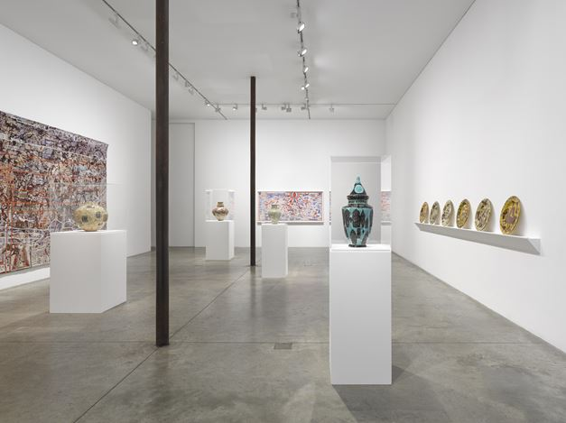 Exhibition view:Grayson Perry, The MOST Specialest Relationship,Victoria Miro, Wharf Road, London (15 September–31 October 2020). © Grayson Perry. Courtesy the artist and Victoria Miro, London/Venice.