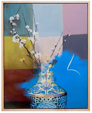 Still Life with Qianlong Vase by Keith Tyson contemporary artwork