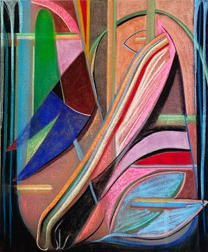 Big Composition 2 (Black Foot) by Aurélie Gravas contemporary artwork