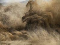 Xiaolangdi Dam #4, Yellow River, Henan Province, China by Edward Burtynsky contemporary artwork photography