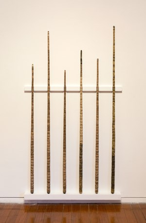 Literature review (pool cues from Year of the Pig Sty) by Hany Armanious contemporary artwork