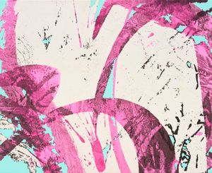 Pink wave by Sojung Lee contemporary artwork painting, works on paper, drawing