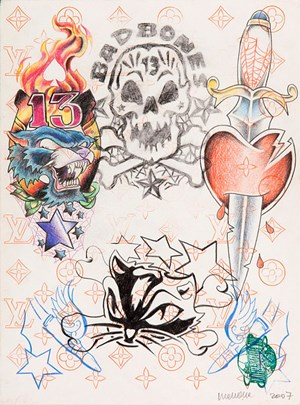 Untitled (Tattoo drawing #5) by Wim Delvoye contemporary artwork