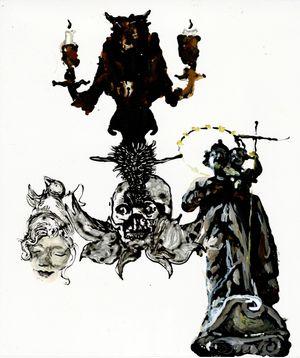 o.T. (Studie zu: Kronzeuge) by Wolf Hamm contemporary artwork