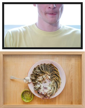 The Artichoke Eater (old crush) by Trevor Yeung contemporary artwork