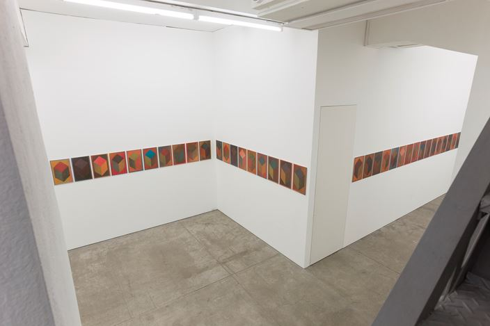 Exhibition view: Jonathan Monk, Lenticular LeWitt, TARO NASU, Tokyo (12 April-12 May 2018). © 2018 Jonathan Monk. Courtesy TARO NASU.