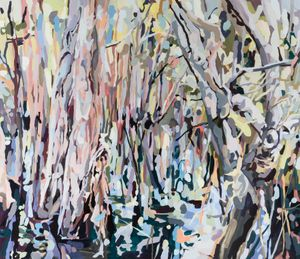 Paperbark Swamp by Oliver Watts contemporary artwork