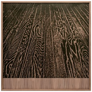 Wooden Floor on Wood (One-Point Perspective) by Analia Saban contemporary artwork