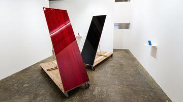 Contemporary art exhibition, Tomii Motohiro, Sloping Sculpture at Yumiko Chiba Associates, Tokyo, Japan
