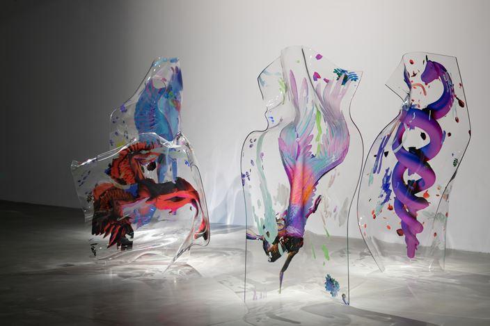 Rachel Rossin, I'm my loving memory (2020–2021). UV printed plexiglass, AR application. Courtesy Hyundai Motorstudio Beijing.
