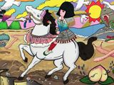 The Lady on a White Horse by Yuree Kensaku contemporary artwork 2