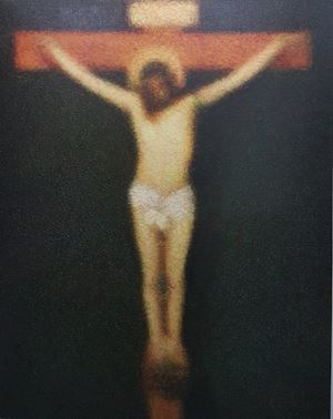 After Diego Velasquez (Christ Crucified) by Roldan Manok Ventura contemporary artwork