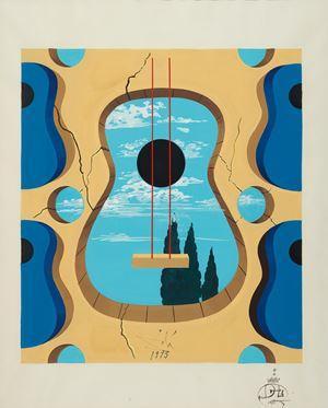 Una guitarra by Salvador Dalí contemporary artwork