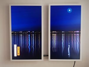 View of Moon over Manatsuru Peninsula by Julian Opie contemporary artwork
