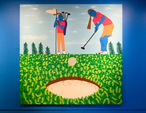 Golf by Claudia Kogachi contemporary artwork painting, works on paper