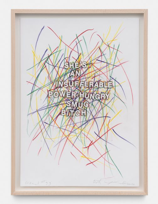 Scrawl #33 by Betty Tompkins contemporary artwork