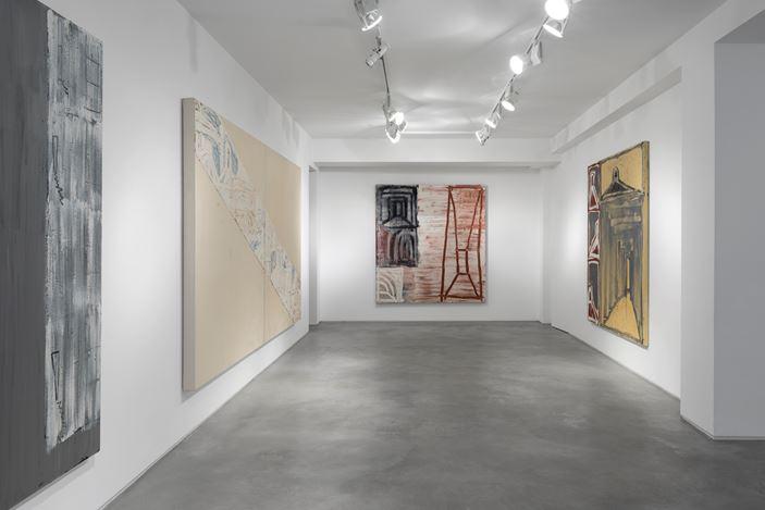 Exhibition view: Basil Beattie, Pathfinder, Huxley-Parlour, London (17 January–15 February 2020).Courtesy Huxley-Parlour.