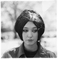 Woman with eyeliner, N.Y.C. 1967 by Diane Arbus contemporary artwork photography