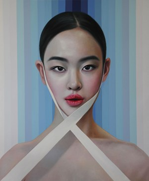 Lily with Ribbon by Ling Jian contemporary artwork
