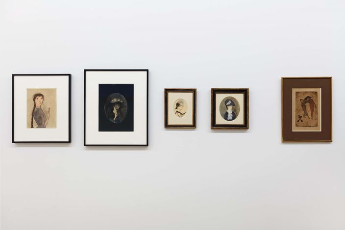 Exhibition view:Marie Laurencin,An Exhibition Organized by Jelena Kristic, Galerie Buchholz, New York (5 March–16 May 2020).Courtesy Galerie Buchholz Berlin/Cologne/New York.