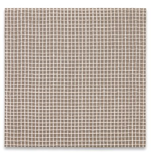 Woven Grid as Warp and Weft, 40 x 40 (White) #2 by Analia Saban contemporary artwork