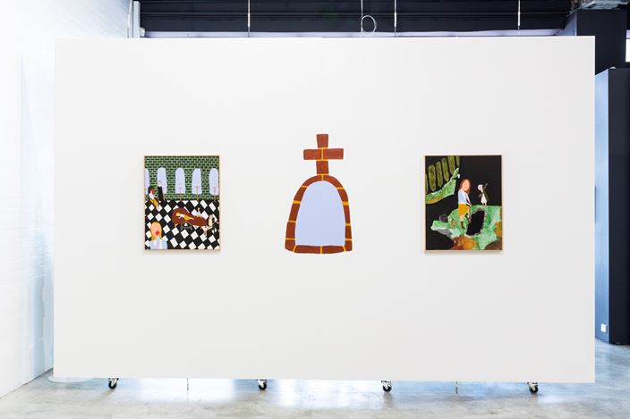 Exhibition view: Justin Hinder, Holy Ghost, THIS IS NO FANTASY + dianne tanzer gallery, Melbourne (14 October–4 November 2017). Courtesy THIS IS NO FANTASY + dianne tanzer gallery.