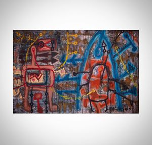 Old Sound 2 by Le Trieu Dien contemporary artwork painting