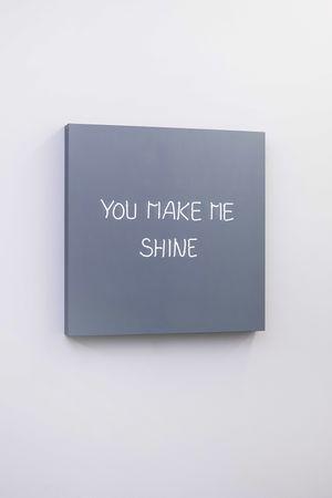 YOU MAKE ME SHINE (handwritten) by Jeppe Hein contemporary artwork