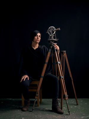Portrait of a Woman with Theodolite II by Heba Y. Amin contemporary artwork