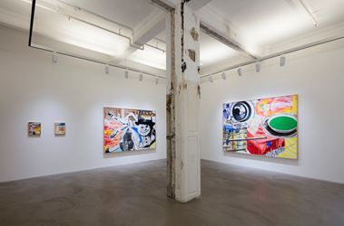 David Salle, Solo Exhibition, 2016, Exhibition view. Courtesy the artist and Lehmann Maupin, Hong Kong.